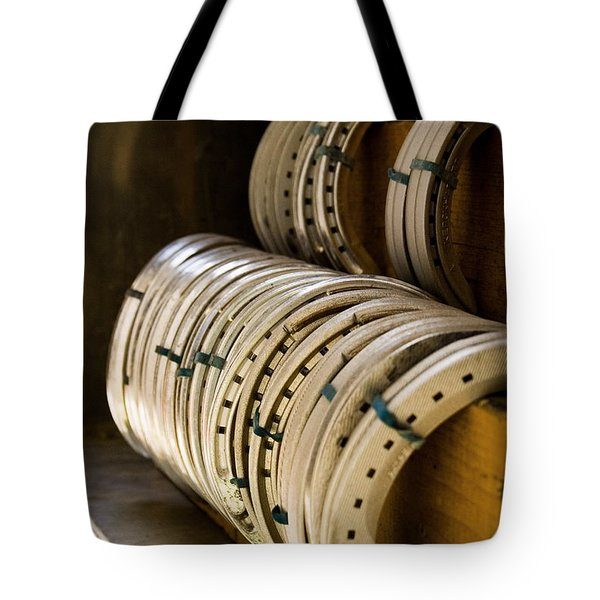 Tote Bag featuring the photograph Horse Shoes by Angela Rath