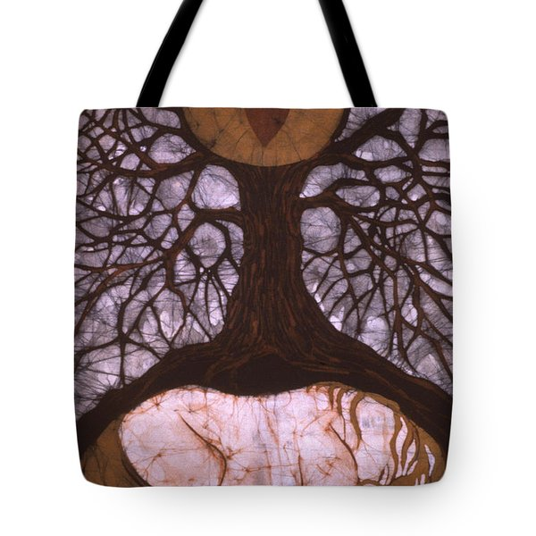 Horse Sleeps Below Tree Of Rebirth Tote Bag by Carol  Law Conklin