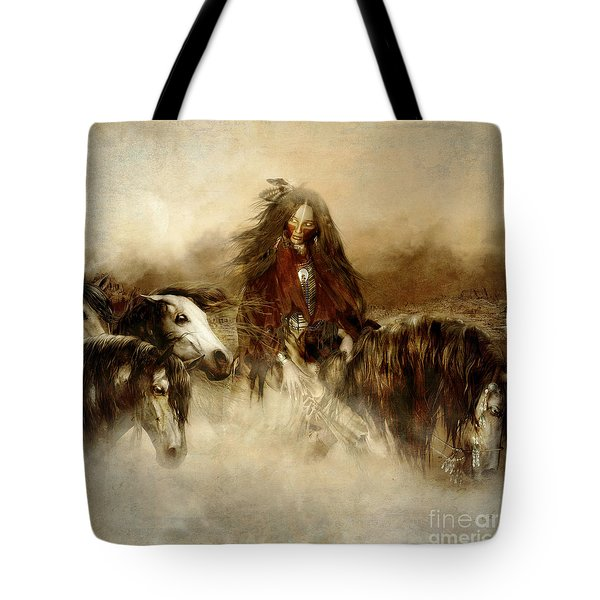 Horse Spirit Guides Tote Bag