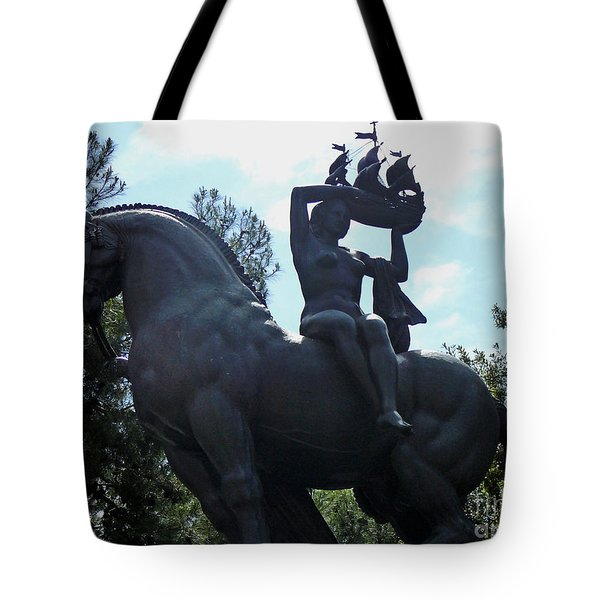 Horse Statue Tote Bag