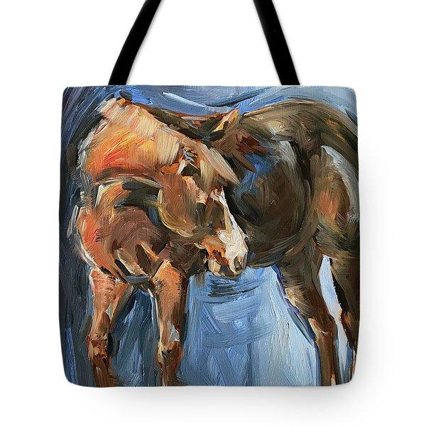 Horse Study In Oil  Tote Bag