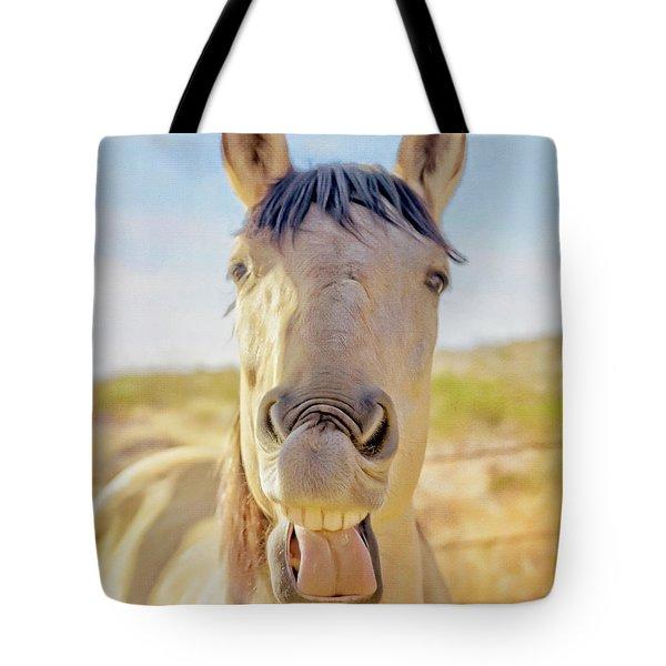 Horse Talk #2  Tote Bag
