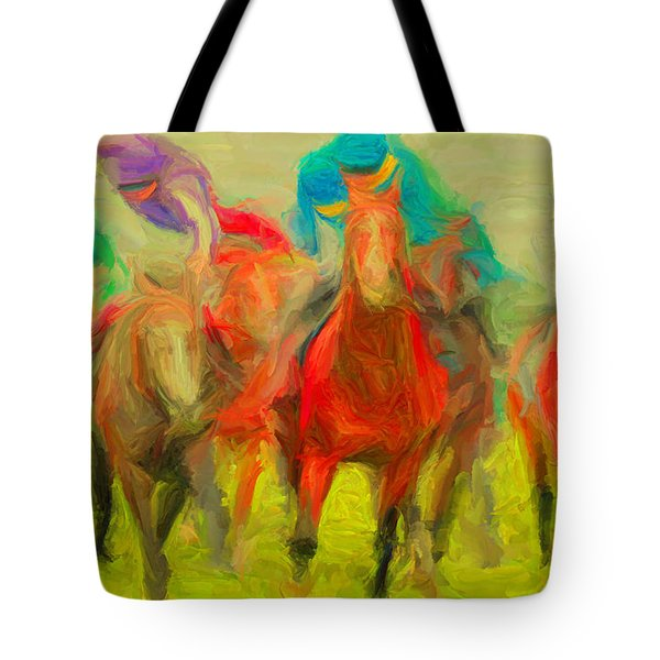 Horse Tracking Tote Bag