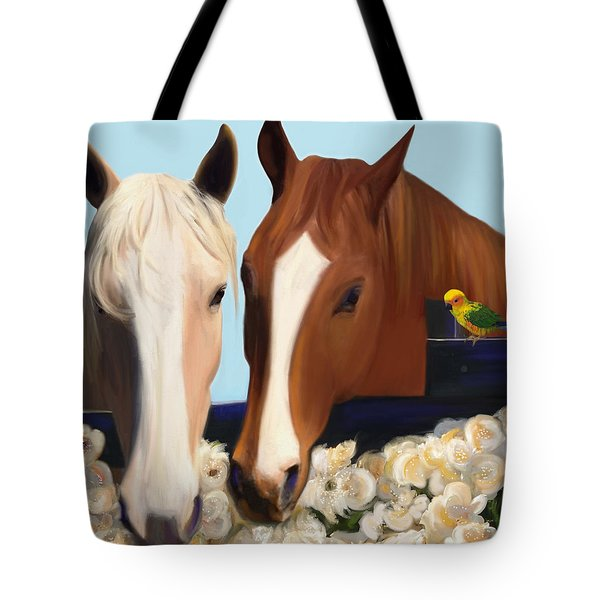 Horse Whispers  Tote Bag by Julianne  Ososke