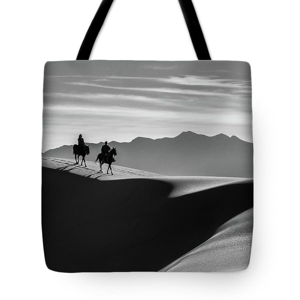 Horseback At White Sands Tote Bag