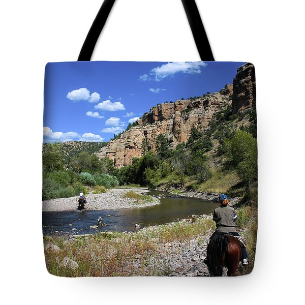 Horseback In The Gila Wilderness Tote Bag