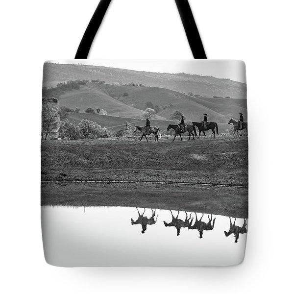 Horseback Landscape Tote Bag