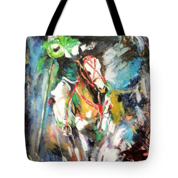 Horse,horseman And The Target Tote Bag