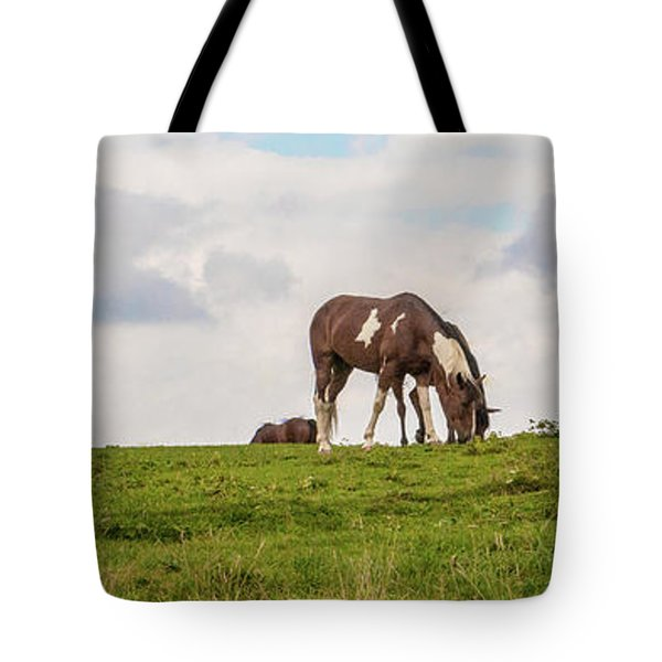 Horses And Clouds Tote Bag