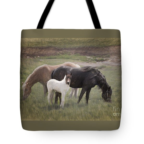 Horses And Colt  Tote Bag