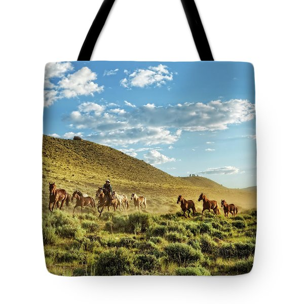 Horses And More Horses Tote Bag