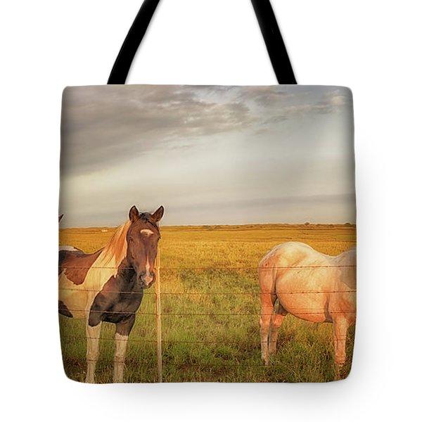 Horses At Kalae Tote Bag