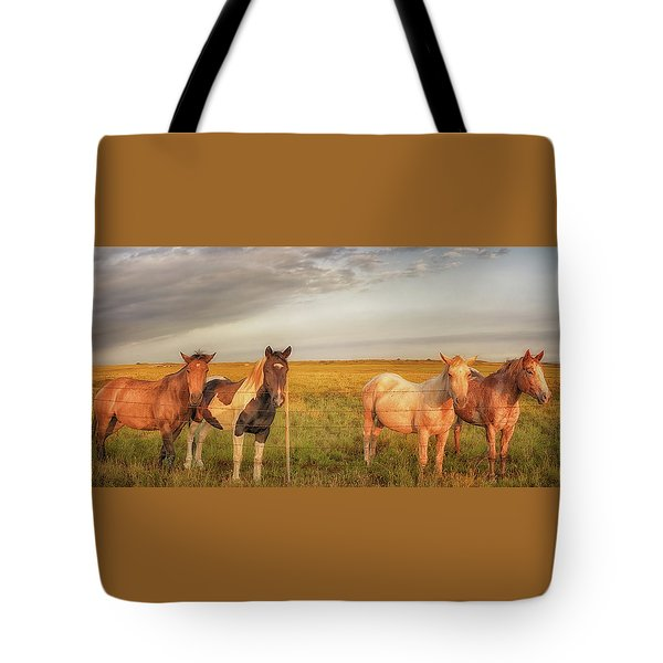 Horses At Kalae Tote Bag