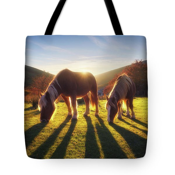 Horses In Austigarmin Tote Bag