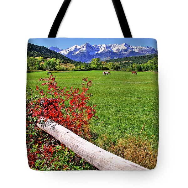 Horses In The San Juans Tote Bag