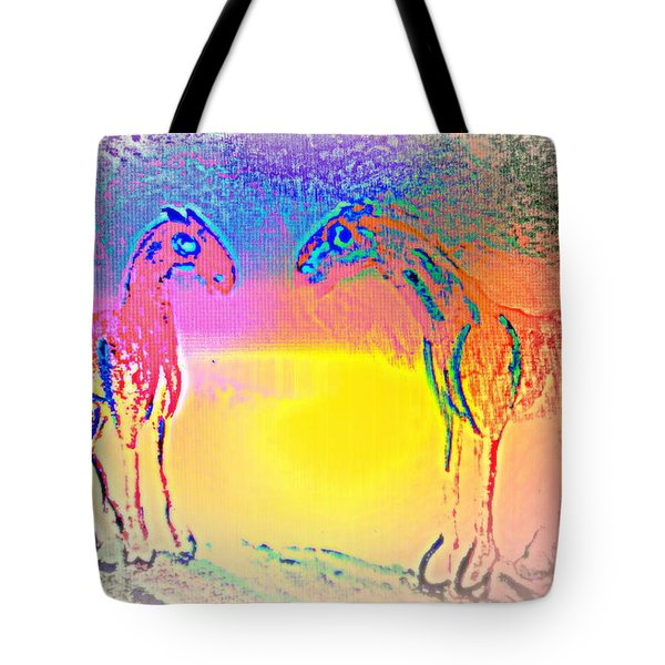 We Are Like The Horses Of Our Dreams And They Like Us  Tote Bag