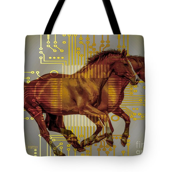 The Sound Of The Horses. Tote Bag