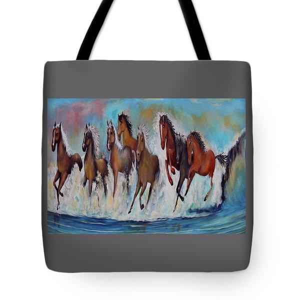 Horses Of Success Tote Bag