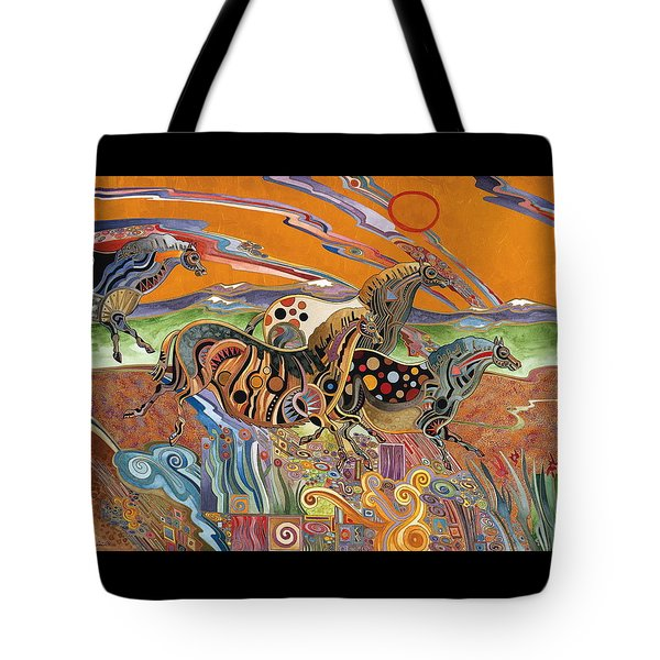 Horses Of The Ardeche Valley France Tote Bag
