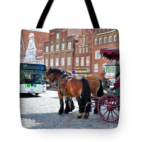 Horses On Tour Tote Bag