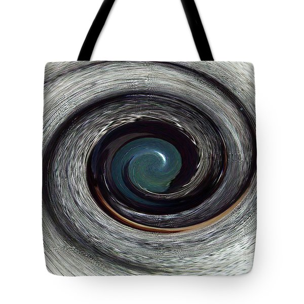 Tote Bag featuring the digital art Eye See You - A Horse's Spiralized Eye - Modern/contemporary Art by Merton Allen