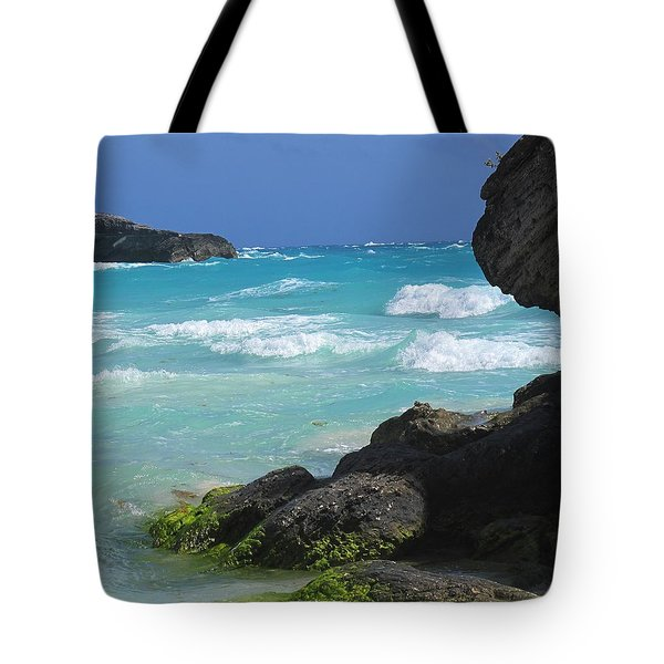 Horseshoe Bay Rocks Tote Bag