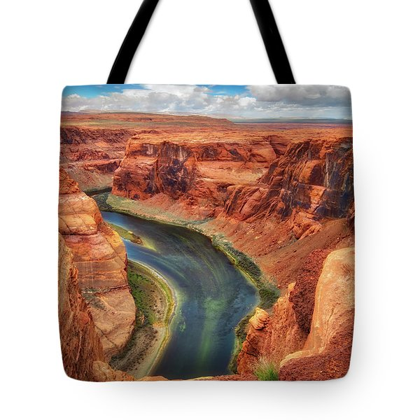 Tote Bag featuring the photograph Horseshoe Bend Arizona - Colorado River #2 by Jennifer Rondinelli Reilly - Fine Art Photography
