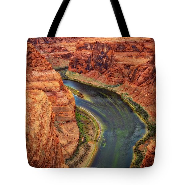 Tote Bag featuring the photograph Horseshoe Bend Arizona - Colorado River #3 by Jennifer Rondinelli Reilly - Fine Art Photography