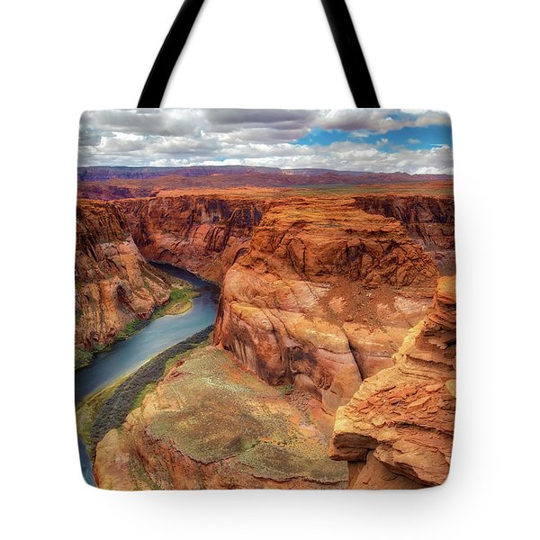Tote Bag featuring the photograph Horseshoe Bend Arizona - Colorado River $4 by Jennifer Rondinelli Reilly - Fine Art Photography