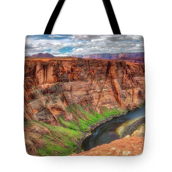 Tote Bag featuring the photograph Horseshoe Bend Arizona - Colorado River #5 by Jennifer Rondinelli Reilly - Fine Art Photography