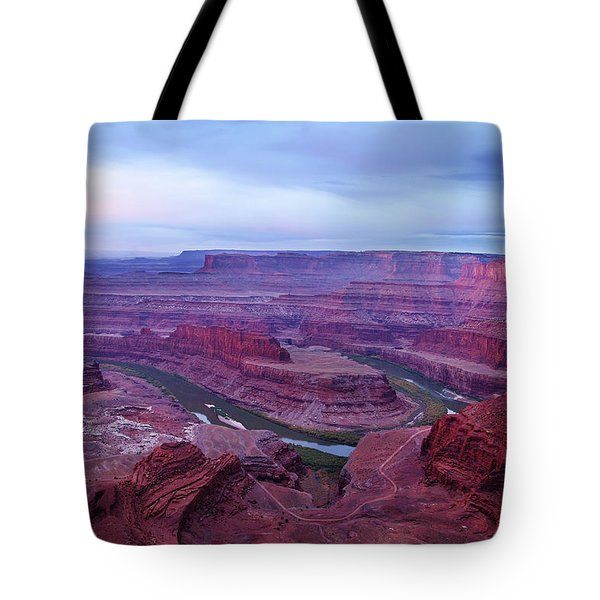 Tote Bag featuring the photograph Horseshoe Bend At Dawn by Marie Leslie