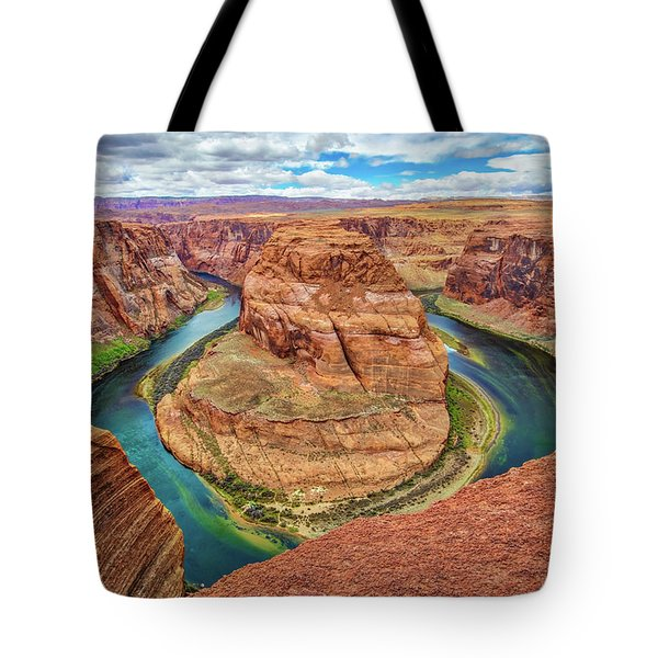 Tote Bag featuring the photograph Horseshoe Bend - Colorado River - Arizona by Jennifer Rondinelli Reilly - Fine Art Photography