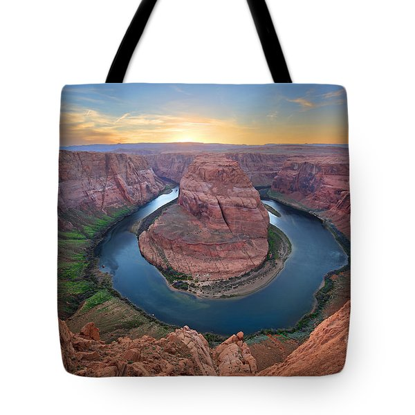 Horseshoe Bend Colorado River Arizona Tote Bag by Martin Konopacki