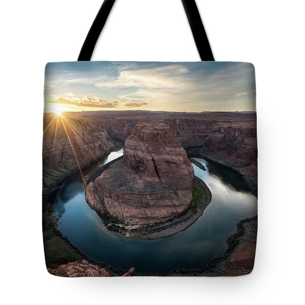 Horseshoe Bend Sunset Tote Bag