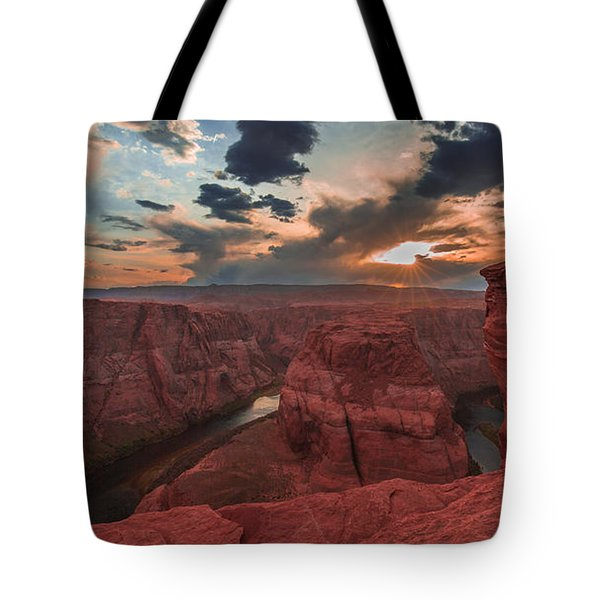 Horseshoe Bend Sunset Tote Bag by Tim Bryan