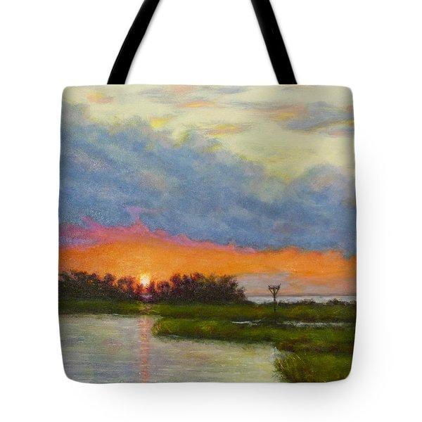 Horseshoe Cove Sunset Tote Bag