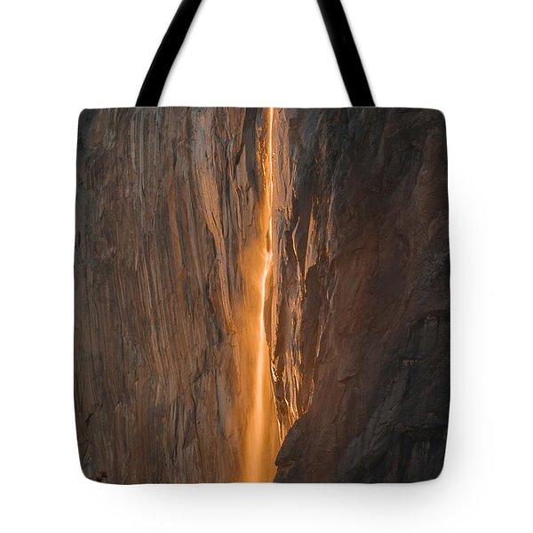 Horsetail Fall 1 Yosemite Tote Bag