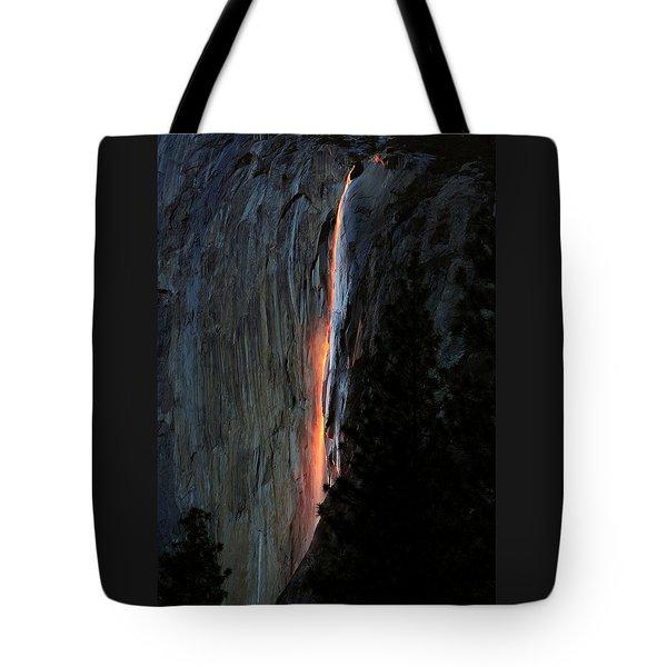 Horsetail Falls Aglow Tote Bag