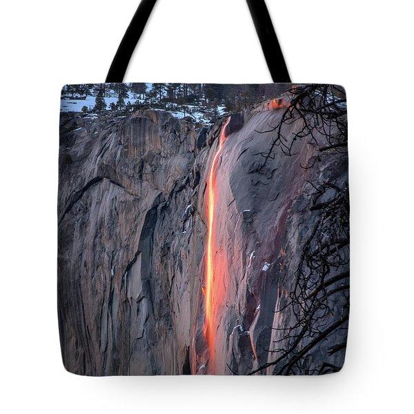 Horsetail Falls Glows 2017 Tote Bag