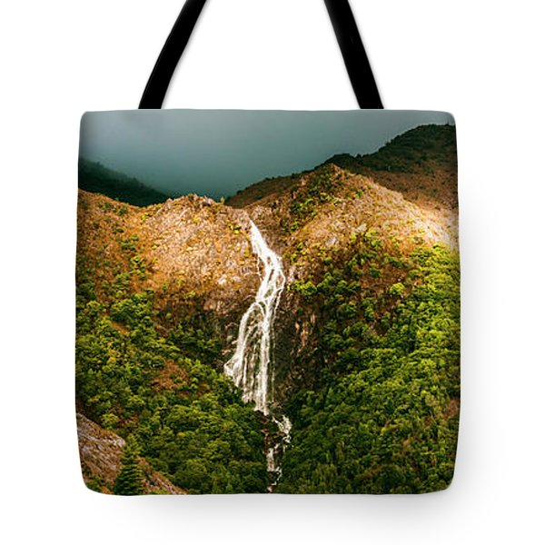 Horsetail Falls In Queenstown Tasmania Tote Bag