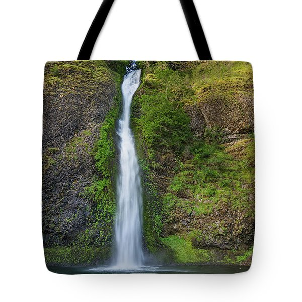 Tote Bag featuring the photograph Horsetail Falls In Spring by Greg Nyquist