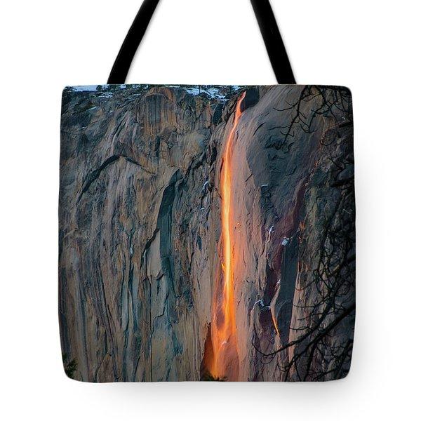 Horsetail Falls Sunset Glow 2017 Tote Bag