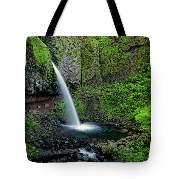 Horsetail Falls Waterfall Art By Kaylyn Franks Tote Bag
