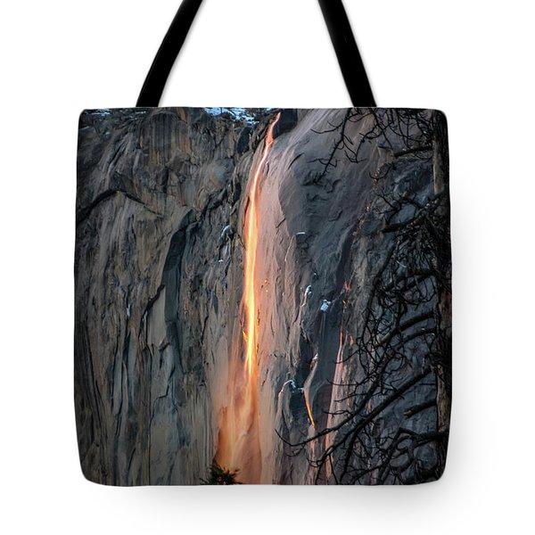Horsetail Waterfall Glow 2017-2-24 Tote Bag