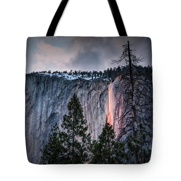 Horsetail Waterfall Glow 2017 Tote Bag