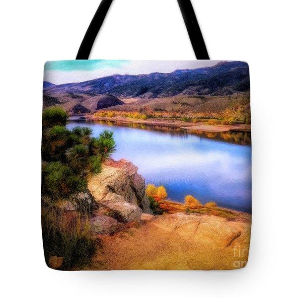 Horsetooth Lake Overlook Tote Bag