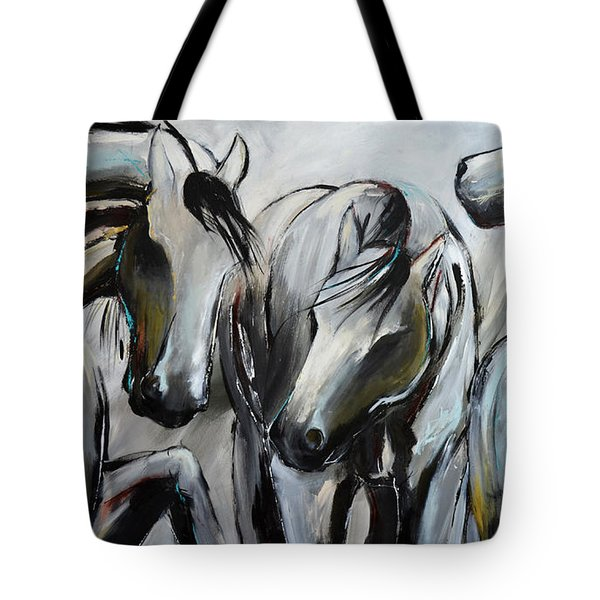 Horsin' Around Tote Bag by Cher Devereaux