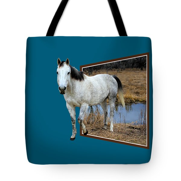 Horsing Around Tote Bag by Shane Bechler