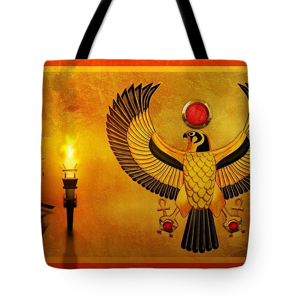 Horus Falcon God Tote Bag