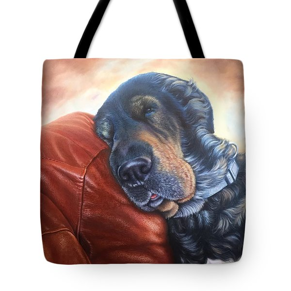 Tote Bag featuring the painting Hoss by Mike Ivey